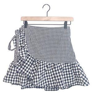 TopShop checkered skirt size 4